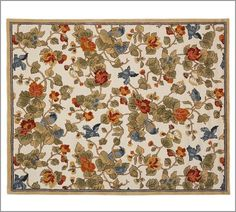 Bird Floral Rug | Pottery Barn