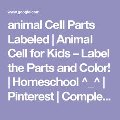 animal Cell Parts Labeled | Animal Cell for Kids – Label the Parts and Color! | Homeschool ^_^ | Pinterest | Complex system, Coloring and Cell project ideas