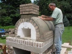 Gable Roof Wood-Fired Outdoor Brick Pizza Oven by The Gyomber Family and BrickWood Ovens
