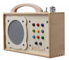 Hörbert Wooden MP3 Player for Kids