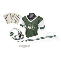 New York Jets NFL Youth Deluxe Helmet and Uniform Set (Medium)