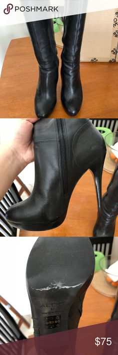 EUC Aldo Knee High Boots in Black ALDO Knee High Boots in Excellent used condition - used for Halloween costume twice and maybe a couple date nights. Too small now.   Originally $200. Open to reasonable offers for quick sale! Aldo Shoes Over the Knee Boots