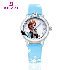 100% Genuine Disney Cartoon Kids Watch Children Kids Elsa Frozen Watch Princess Casual Silicone Quartz Wristwatch Relogio Clock Superior Quality In
