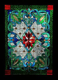Leadlight Victorian Heritage Stained Glass Front Door Window Hand Crafted | eBay