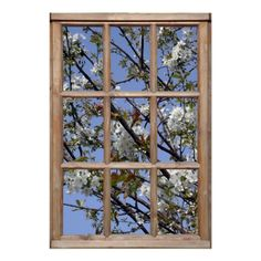 Shop Tree Blossom from a Window Poster created by SceneFromAWindow. Window View, Open Window, Window Wall, Posters Uk, Custom Posters, Window Poster, Poster Wall, Online Poster Maker, Simple False Ceiling Design