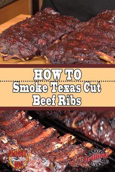 How To Smoke Texas Cut Beef Ribs smoker recipes,masterbuilt smoker recipes,electric smoker recipes,bradley smoker recipes,best smoker recipes Smoked Beef Ribs Recipe, Grilled Beef Ribs, Bbq Beef Ribs, Slow Cooker Bbq Ribs, Ribs On Grill, Smoked Ribs, Texas Beef Ribs Recipe, Pork Roast, Bbq Grill