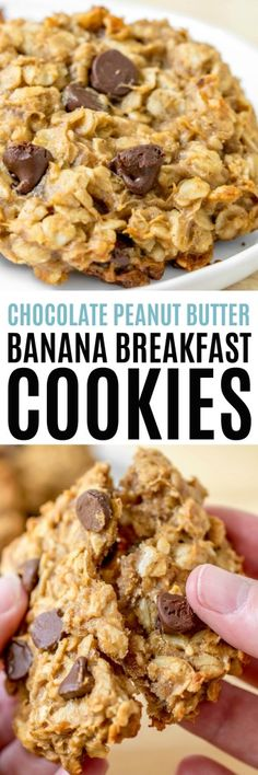 Chocolate Peanut Butter Banana Breakfast Cookies are everything you need to get your day started right. Bananas, #peanutbutter, and a little #chocolate make this a breakfast you won't want to skip! #RealHousemoms #bananas #breakfast #cookies #ad #Espressotoria
