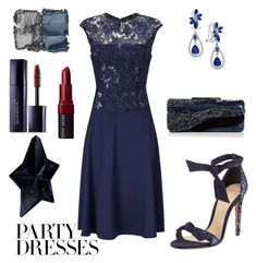 """""""#PolyPresents: Party Dresses"""" by elizabeth-buttery ❤ liked on Polyvore featuring Adrianna Papell, Alexandre Birman, Sondra Roberts, Thierry Mugler, Effy Jewelry, Bobbi Brown Cosmetics, Estée Lauder, NARS Cosmetics, contestentry and polyPresents"""