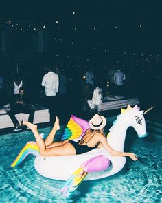 Lets float on a unicorn