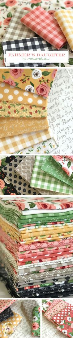 Farmer's Daughter is a bright floral collection by Lella Boutique for Moda Fabrics available at Shabby Fabrics.