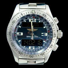 BREITLING-B-1 digital quartz 44mm A68362 chronograph. Avilible now at our site : http://www.joaillerie-royale.com/73-montre-occasion-breitling  Disponible immédiatement sur notre site http://www.joaillerie-royale.com/73-montre-occasion-breitling