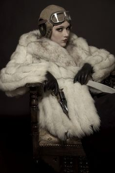 Steampunk/Gothic Ladies | Beauty | Fashion | Costume | Creativity | Dieselpunk fur jacket
