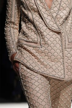 Balmain Fall/Winter 2012 pantsuit with the loveliest bead work covering the entire surface of the jacket and pants.