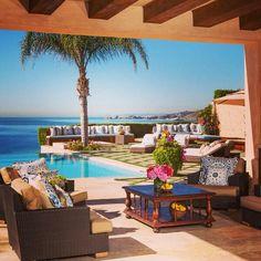 Yolanda Foster's backyard / oasis in Malibu