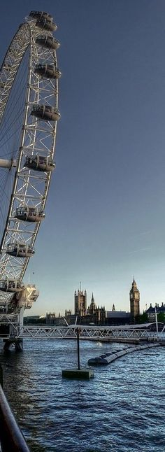 The London Eye and the Houses of Parliament, London, England