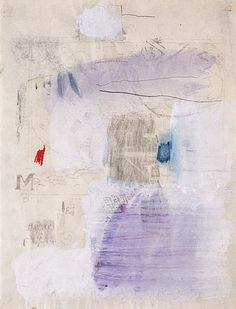 """theories-of: """"Robert Rauschenberg, Untitled, 1952 """" Robert Rauschenberg, Jasper Johns, Willem De Kooning, Pop Art, Modern Art, Contemporary Art, Franz Kline, Richard Diebenkorn, Collage"""
