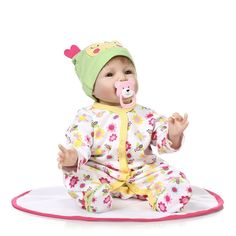 87.80$  Buy now - http://ali3k1.worldwells.pw/go.php?t=32697723513 - Cute Silicone reborn baby dolls lifelike accompany sleeping boy reborn babies dolls Christmas birthday gift brinquedos for kids 87.80$