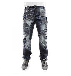 40570b408e382 Japrag JR3141 Mens Designer Dark Blue Stonewashed Casual Denim Slim Fit  Jeans (36R)