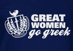 "Great Women Go Greek!  @Amanda Watton - slogan for recruitment: ""Great Women Go DZ"""
