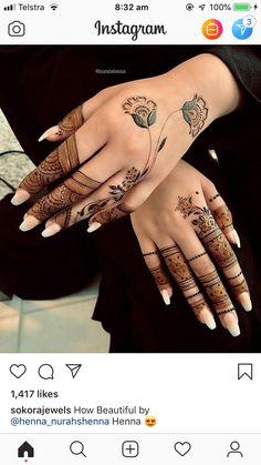 Mehendi Floral Henna Designs, Henna Tattoo Designs Simple, Finger Henna Designs, Indian Mehndi Designs, Stylish Mehndi Designs, Mehndi Designs 2018, Bridal Henna Designs, Beautiful Henna Designs, Mehndi Designs For Fingers