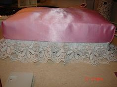 Shoebox Barbie bed for Callie's dollhouse