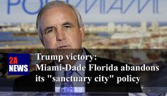 """Trump victory: Miami-Dade Florida abandons its """"sanctuary city"""" policy.  Federal funding has been restored to Miami-Dade Florida following the city's abandonment of its """"sanctuary city"""" policies.  https://2anews.us/?p=6378  #Attorney_General_Jeff_Sessions, #Carlos_A_Gimenez, #Illegal_Immigration, #MiamiDade, #President_Trump, #Sanctuary_City, #US_Department_Of_Justice, #Illegal_Immigration, #Laws_Legal_Challenges, #Politics"""