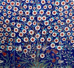 Gorgeous tiles from Ann Sacks - Iznik tiles made today using 16th c. techniques in the small Turkish town of Iznik