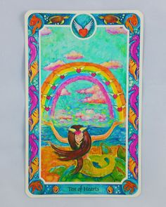 Colorful Mermaid Tarot Card