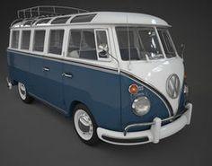 VW Bus T1 Samba 3D Model