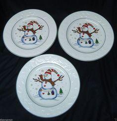CLEARANCE Sonoma Set of 4 Black Christmas Salad Dessert Plates 8 ...