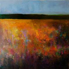 """Saatchi Art Artist Anton Evmeshkin; Painting, """"Abstract Landscape (Autumn field)"""" #art"""