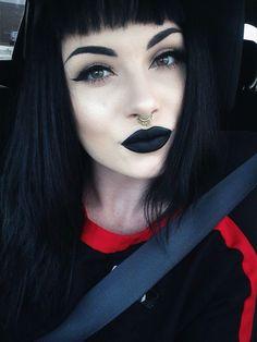 Gothic nun makeup?