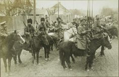 Russian Civil War cavalry ~ not sure if they are Red or White troops