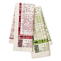 IN POUR TASTE +++  Wine Pairing Towel Set +++      Whether you're popping the top off your best vintage or just the wine of the month you'll be sure to select your vino du jour's most fitting fare when you consult these clever cloths.