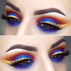105 Me gusta, 2 comentarios - NYX Professional Makeup MY ( en I. Dramatic Wedding Makeup, Dramatic Eye Makeup, Eye Makeup Art, Dramatic Eyes, Makeup For Green Eyes, Blue Eye Makeup, Colorful Makeup, Simple Makeup, Eye Makeup Cut Crease