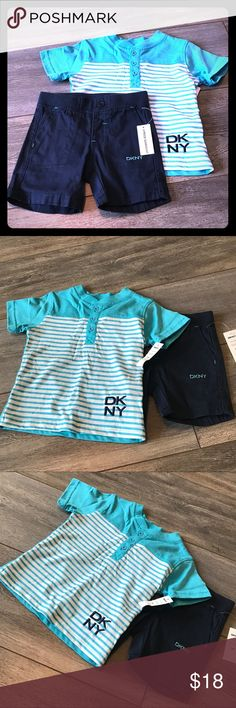 Lil boys clothing Lil boys complete DKNY outfit...12M Dkny Matching Sets