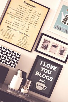 Cute idea for my future coffee station. Love the oldschool Starbucks menu. Coffee Bar Home, Home Coffee Stations, Coffee Cafe, Coffee Menu, Coffee Signs, Coffee Barista, Coffee Humor, I Love Coffee, Best Coffee
