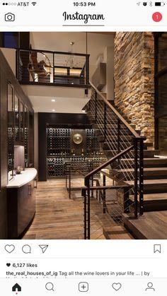 single stringer open concept staircase. Glass railings?