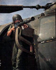 vietnam war helicopter gunner. #VietnamWarMemories