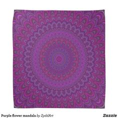 Purple flower mandala bandana #purple #flower #floral #graphicdesign #bandana #mandala #zazzle #yoga #design #gift #MandalaClothing #apparel #fashion #PurpleFashion #PurpleMandala #FloralMandala #GiftDesign #giftforher