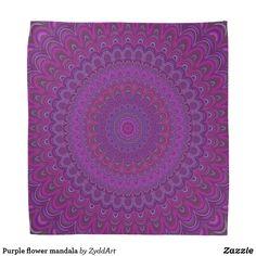 Purple flower mandala bandana #purple #flower #floral #graphicdesign #bandana #mandala #zazzle #yoga #design #gift #MandalaClothing #apparel #fashion #PurpleFashion #PurpleMandala #FloralMandala #GiftDesign #giftforher
