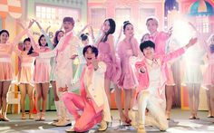 SHINee with f(x) Krystal and Sulli | official Etude House website 140305 update