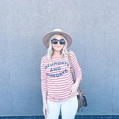 Striped Weekend Tee #Anthropologie #MyAnthroPhoto