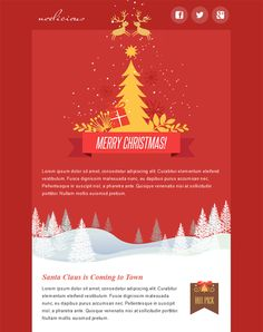 This holiday and Christmas email template offers a responsive ...
