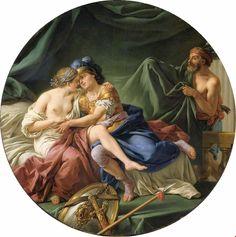 Mars and Venus Surprised by Vulcan, by Louis Jean François Lagrenée. Musée du Louvre