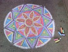 Mandalas: Chalk Drawings in Your yard 3d Street Art, Street Art Graffiti, Graffiti Artists, Chalk Drawings, Art Drawings, Mandala Art, Chalk Festival, Miraculous, Chalk Design