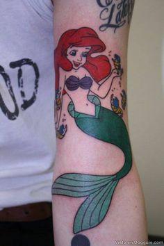 ariel tattoos | Tatuagem da personagem Ariel – A pequena sereia
