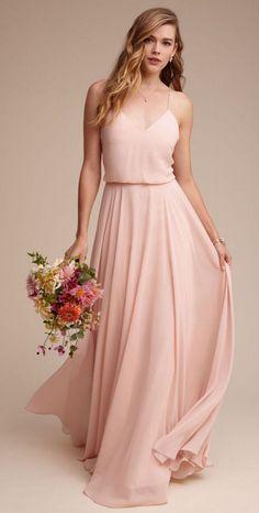 Blush bridesmaid dress. So super pretty!! More
