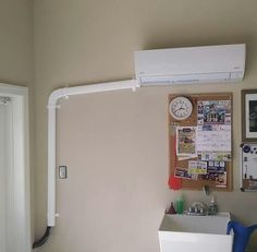 new mini split install - Hvac Hacks Hvac Installation, Air Conditioning Installation, Tv Wall Design, Heating Systems, Interior Design, Mini, Room, Big Time, Furniture