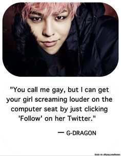 kekekeke!!! G-Dragon knows how to deal with haters | allkpop Meme Center